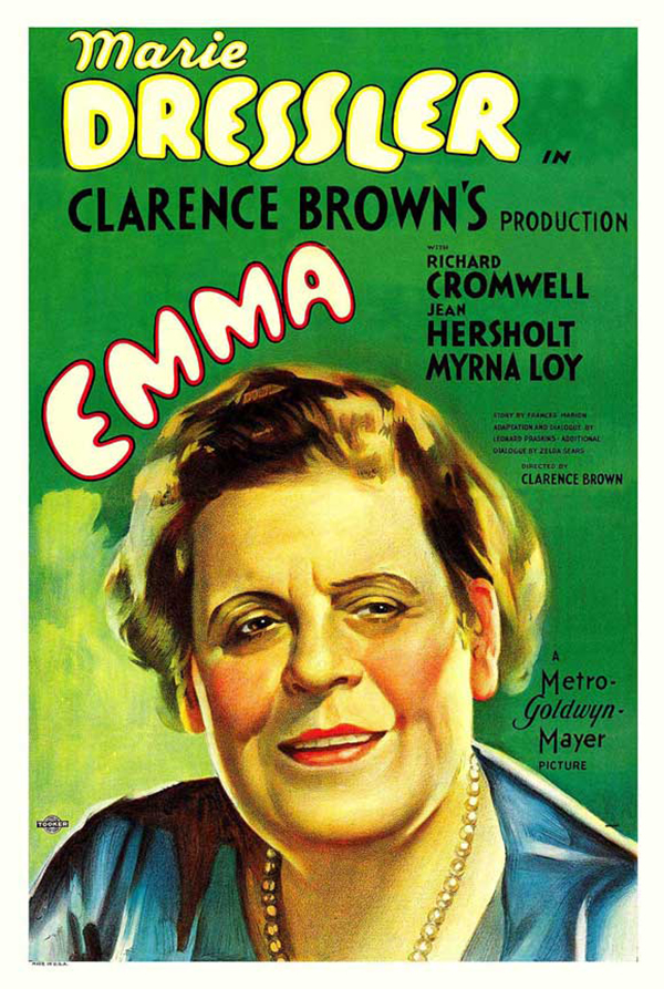 Marie Dressler Emma Movie Poster (1932)