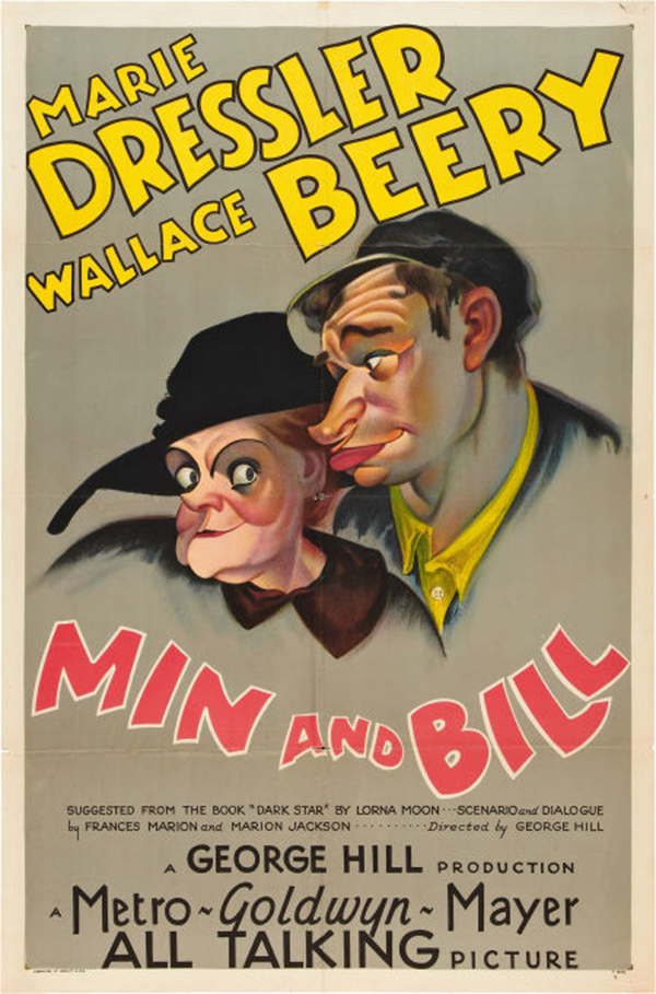 Marie Dressler Min and Bill Movie Poster (1930)