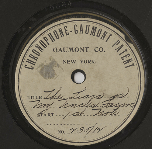 Soundtrack Disc Label 1915 British Gaumont Sound Short Commercially Issued Victor 78 Lip Synch