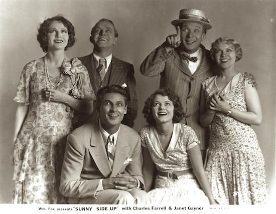 Sunny Side Up (1929) Sharon Lynn, Frank Richardson, El Brendel, Marjorie White, Janet Gaynor, Charles Farrell