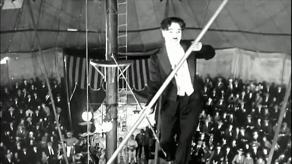 the circus chaplin tightrope