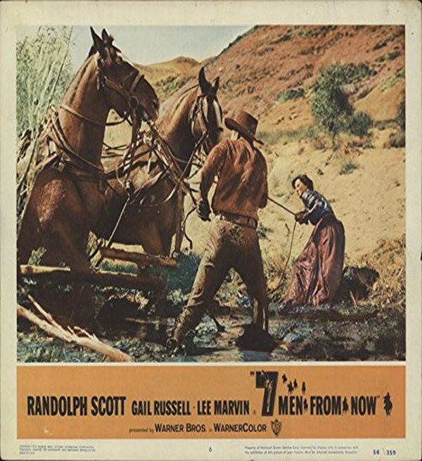 7 Men from Now (1956) Randolph Scott Movie Poster