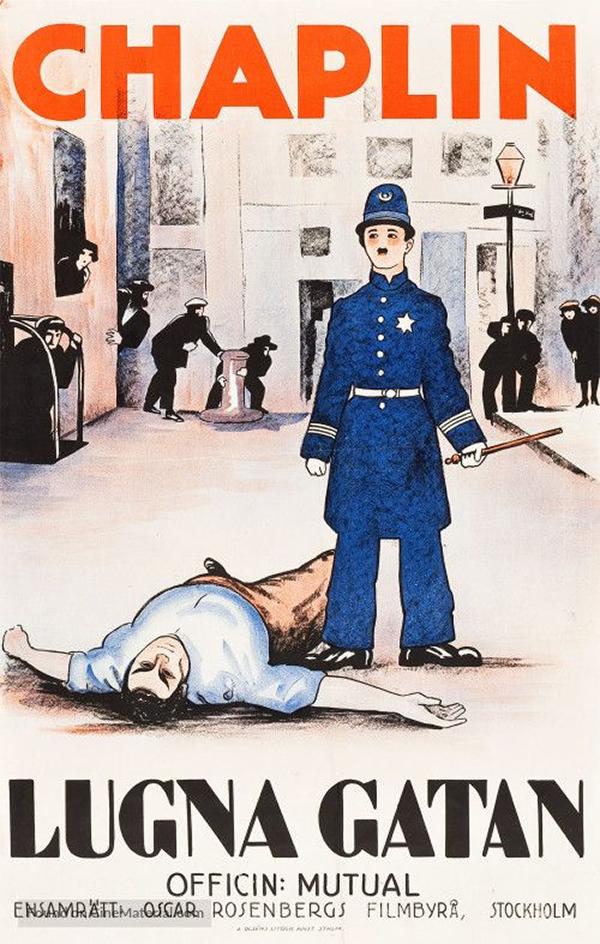 Charlie Chaplin Easy Street (1917) Swedish Poster