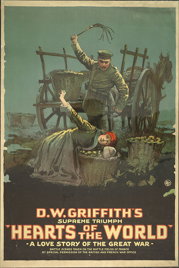 DW Griffith's Hearts of the World (1918) Poster