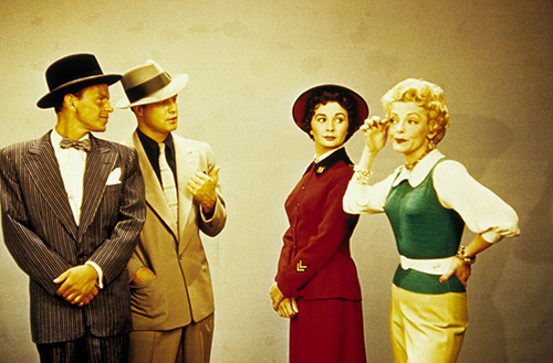 Frank Sinatra, Marlon Brando, Jean Simmons and Vivian Blaine in Guys and Dolls (1955)