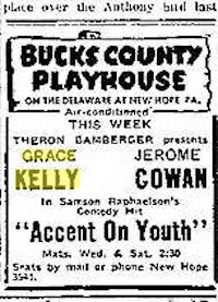 Grace Kelly Accent on Youth Doylestown Intelligencer 8-18-52