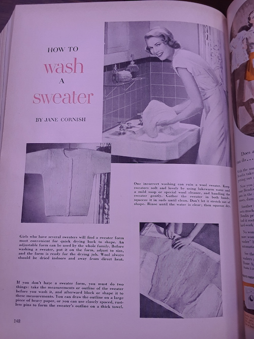 Grace Kelly as model Wash Sweater Good Housekeeping Fall 1948