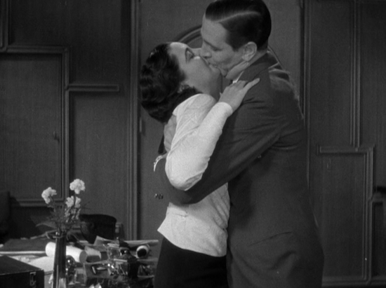 Man Wanted (1932) Kay Francis and Kenneth Thompson Kissing