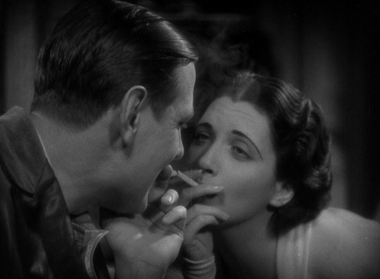 Man Wanted (1932) Kay Francis and Kenneth Thompson Flirting Cigarette