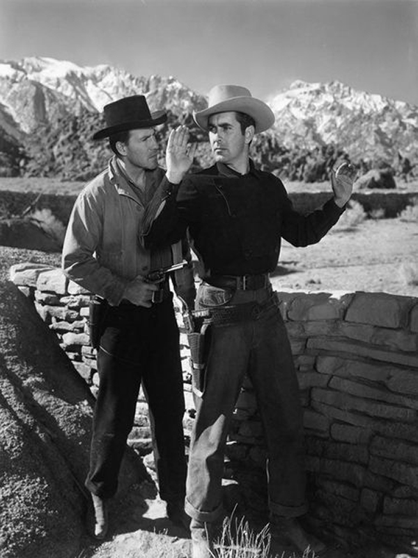 Rawhide (1951) Hugh Marlowe and Tyrone Power