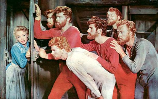 Seven Brides for Seven Brothers (1954) Jane Powell, Howard Keel, Jeff Richards, Matt Mattox, Marc Platt, Jacques d'Amboise, Tommy Rall