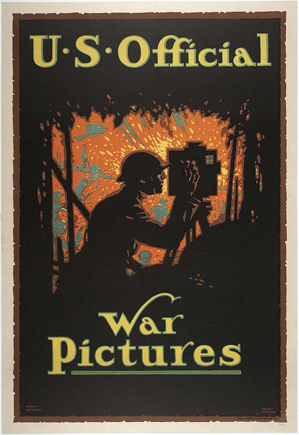 US Official War Pictures Poster 1900's