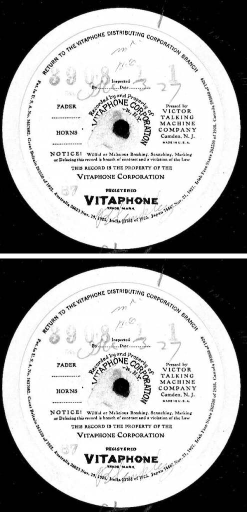 Standard Vitaphone Disc Labels
