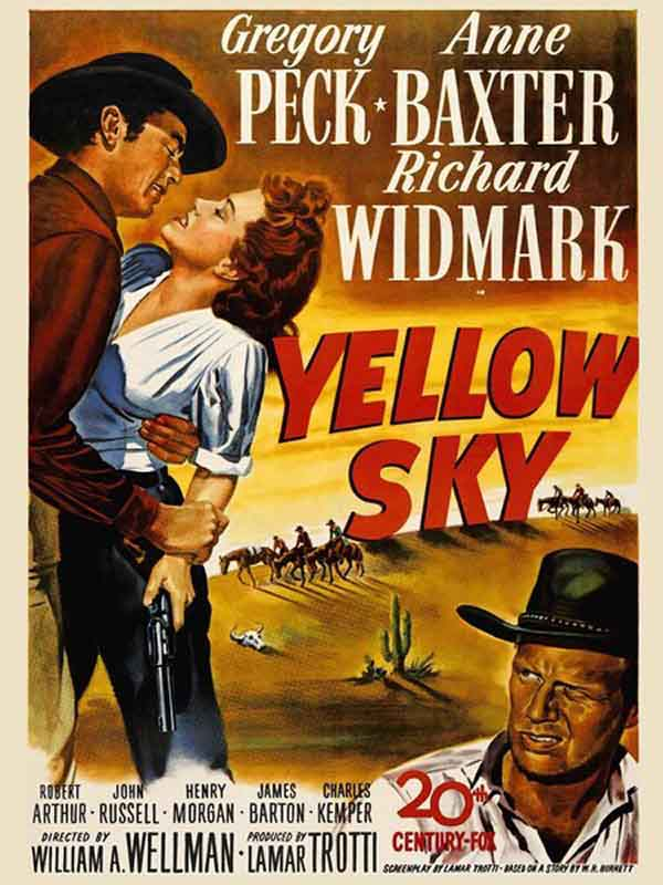 Yellow Sky (1948) Movie Poster Gregory Peck, Anne Baxter, Richard Widmark