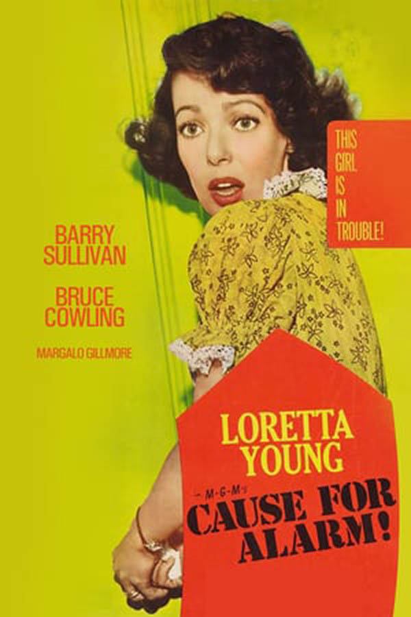 Cause for Alarm (1951) Noir Loretta Young Movie Poster