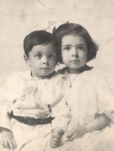 Colleen Moore and her brother Cleeve as Children