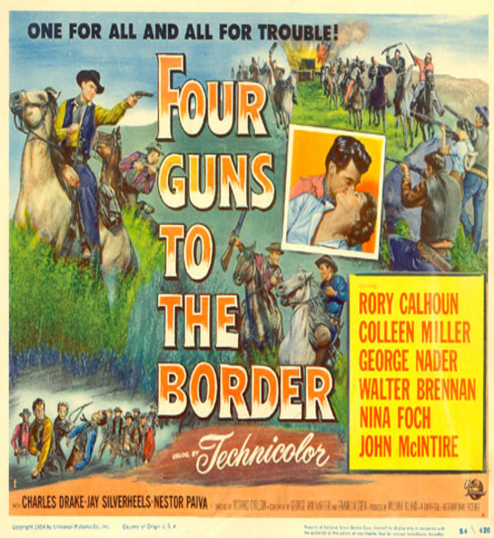 Poster for Four Guns to the border (1954)