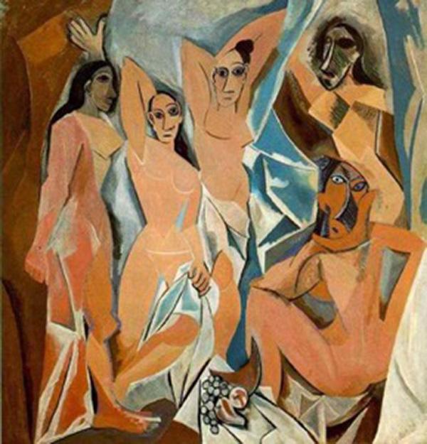 Les Demoiselles D'Avignon by Picasso.