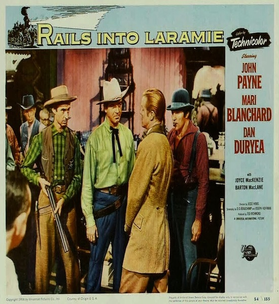 Rails into Laramie (1954) Movie Poster
