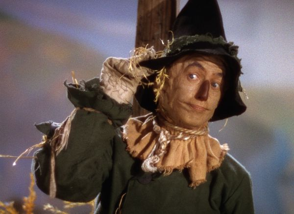 Ray Bolger as The Scarecrow in The Wizard of Oz (1939)