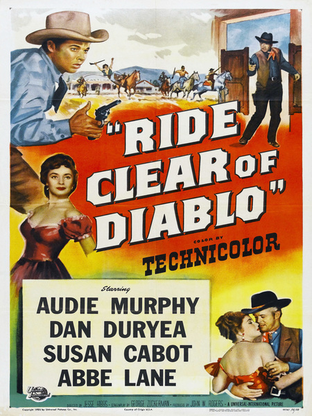 Movie Poster for Ride Clear of DIablo (1954)