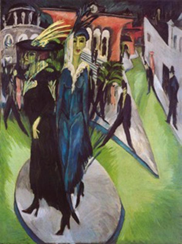 Street, Berlin by Brücke artist Ernst Ludwig Kirchner