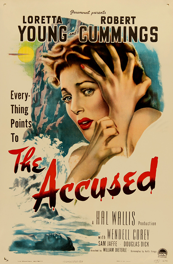 The Accused (1948) Noir Loretta Young Movie Poster