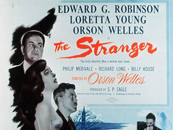 The Stranger (1946) Noir Loretta Young Movie poster