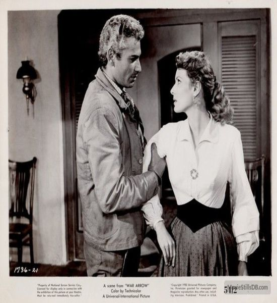 War Arrow (1953) Jeff Chandler and Maureen O'Hara