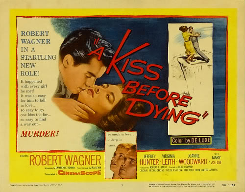 1956 A Kiss Before Dying poster