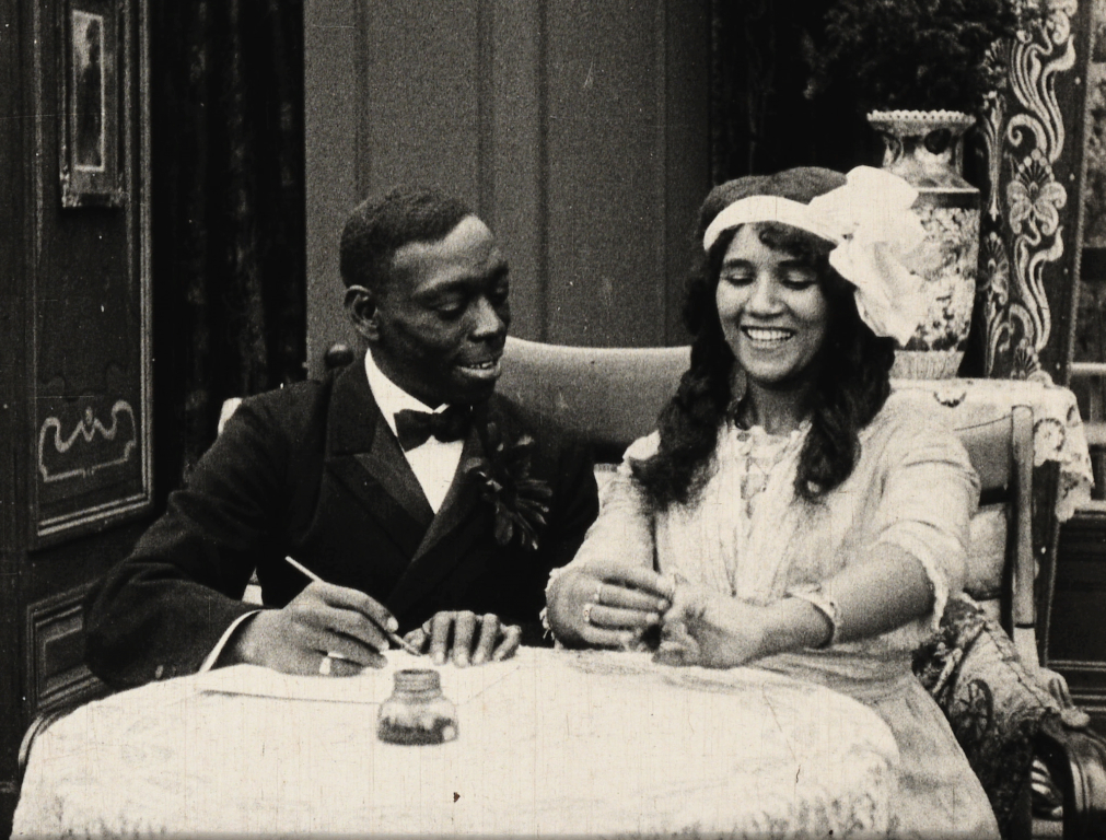 A scene from FOOL AND HIS MONEY, part of the PIONEERS- FIRST WOMEN FILMMAKERS collection