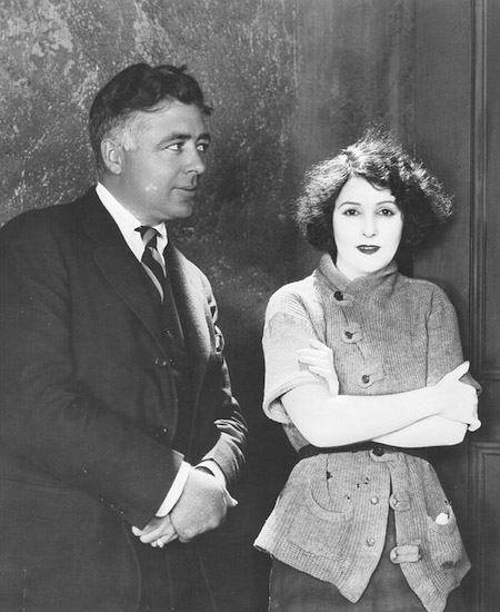 Clarence Brown and Norma Talmadge in a publicity shot for Kiki