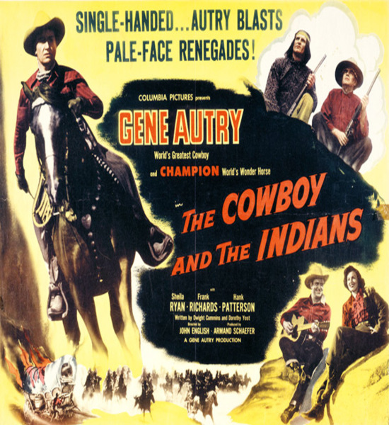 Cowboy and the Indians gene autry movie poster 2