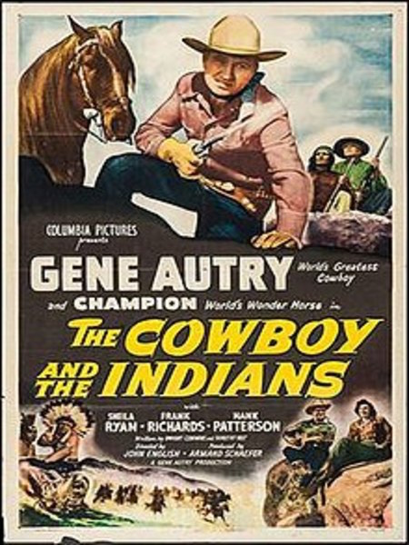 Cowboy and the Indians starring gene autry movie poster 1