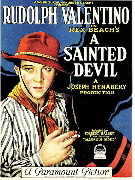 Henabery directed the immensely popular Rudolph Valentino in A SAINTED DEVIL (1924)