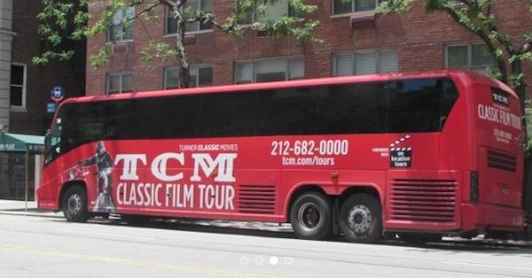 tcm classic film tour bus