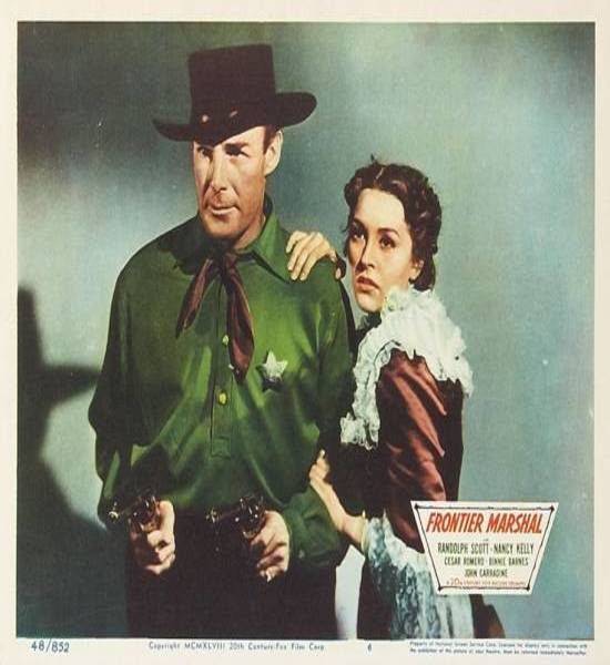 Frontier Marshal (1939) Randolph Scott and Nancy Kelly Movie Poster