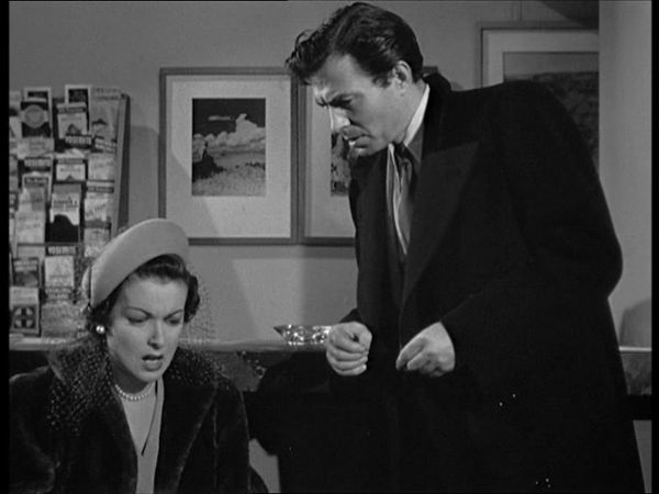 Joan Bennett and James Mason in 'The Reckless Moment'
