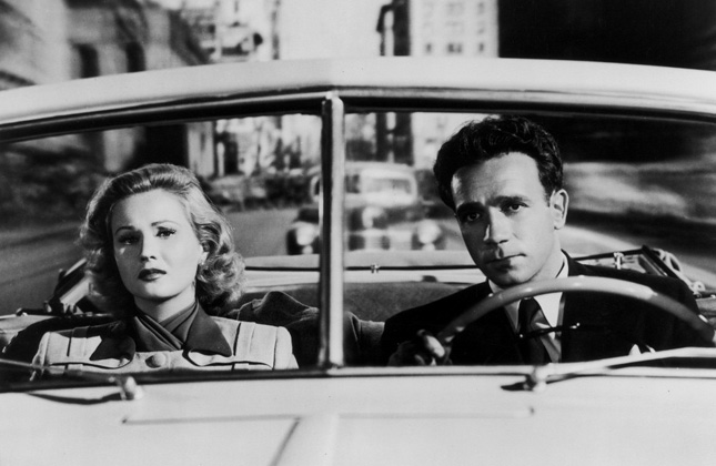 Virginia Mayo and Dane Clark in 'Backfire'