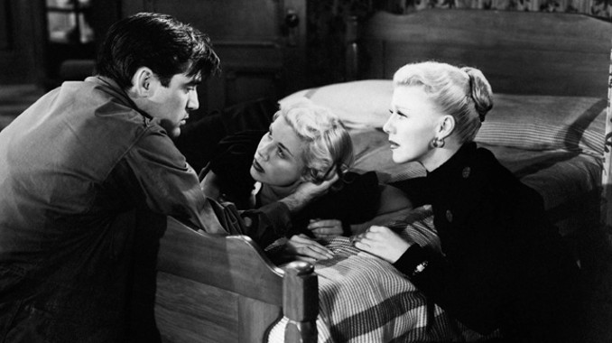 Steve Cochrane, Doris Day and Ginger Rogers in 'Storm Warning'