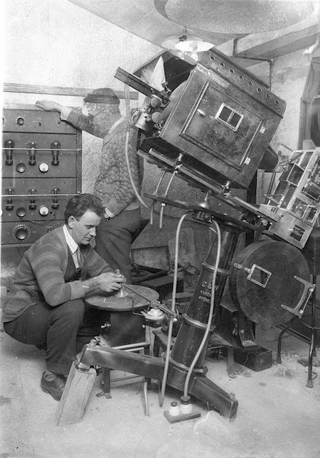 Australian Vitaphone Disk Projection Booth