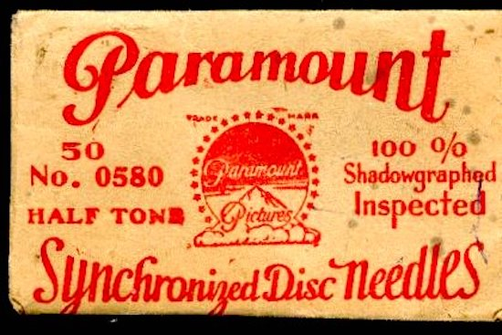 Paramount Vitaphone Disk Needles Projector