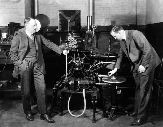 Vitaphone Projector Cuing up Disk
