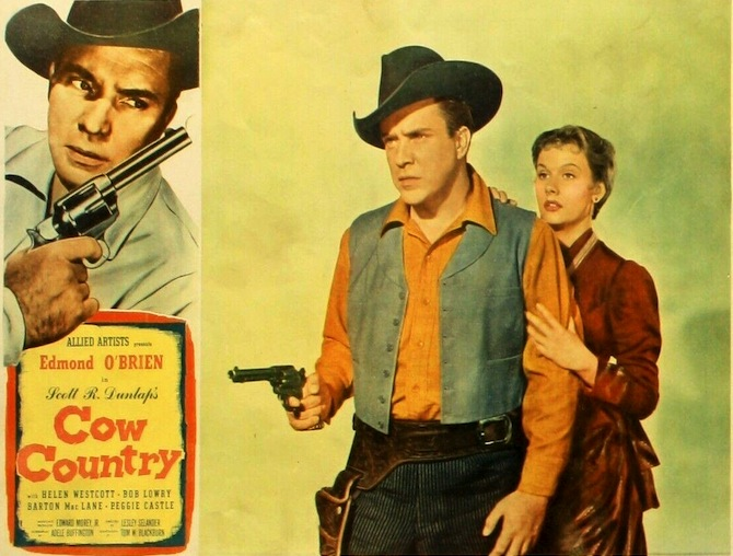Cow Country (1953) Edmond O'Brien, Helen Westcott