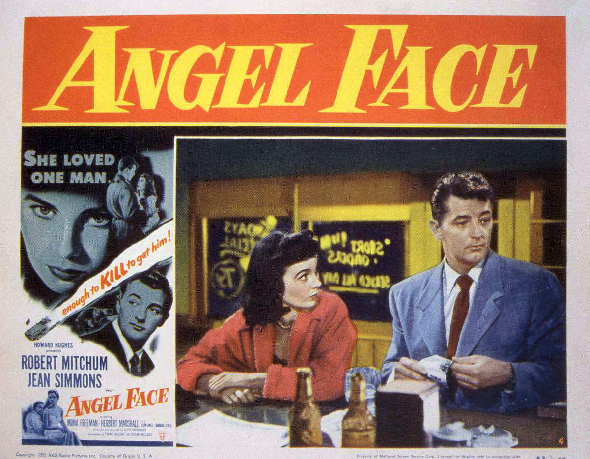 The original lobby card for 'Angel Face'