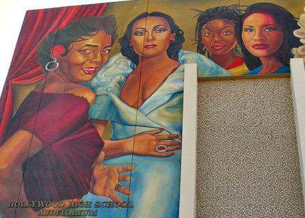 Dolores del Rio Mural in Hollywood High School, CA