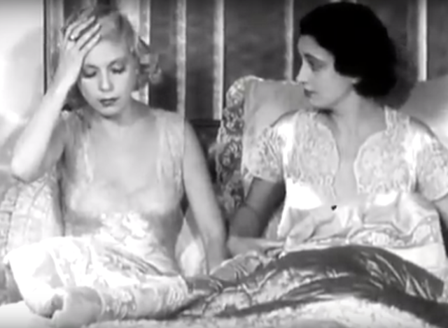 Girls About Town (1931) Kay Francis and Lilyan Tashman in bed