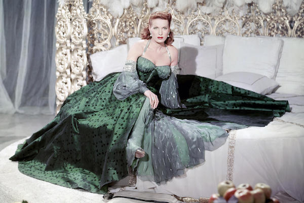 Maureen O'Hara On the set of Flame of Araby