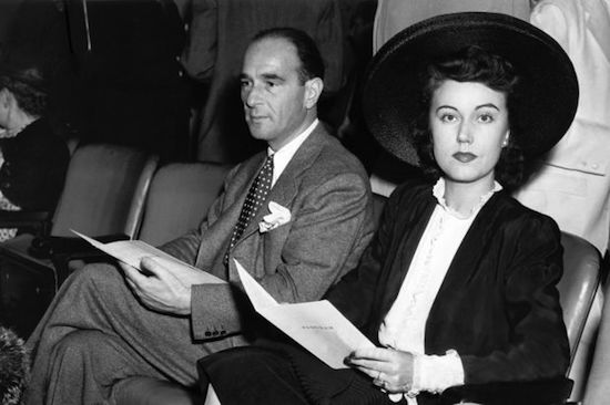 robert riskin and fay wray in new york 1942