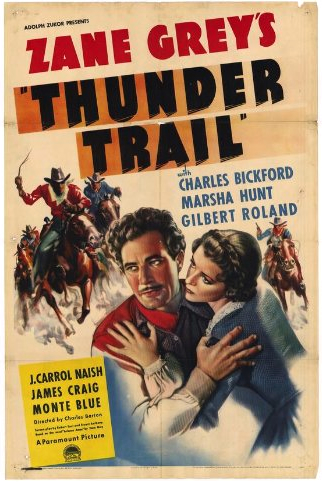 Thunder Trail (1937) Marsha Hunt, Charles Bickford, Gilbert Roland - Movie Poster